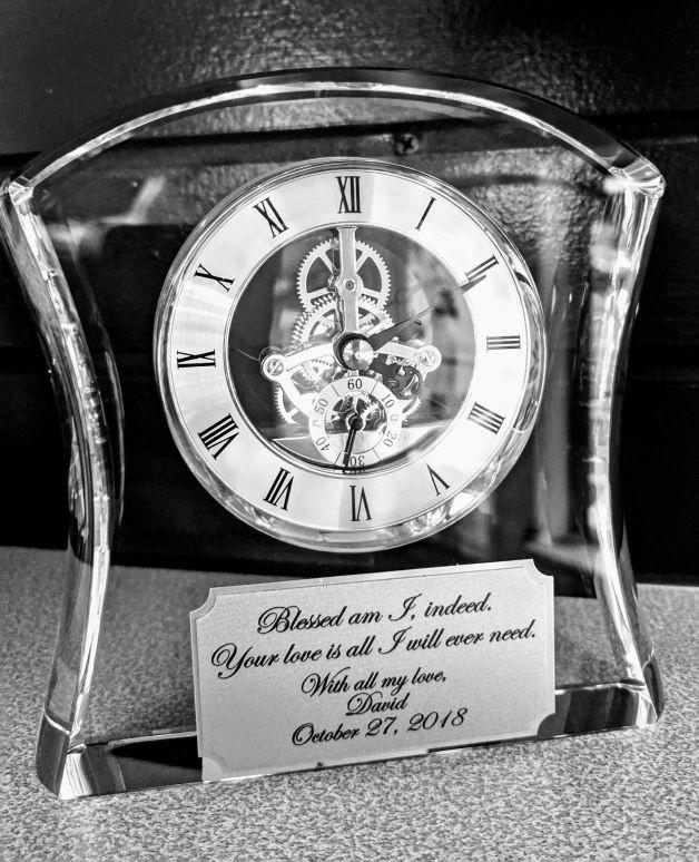 Crystal Skeleton Clock