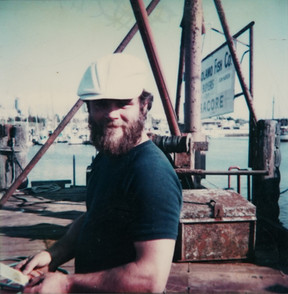 A Fisherman Working at Bruce's Dock