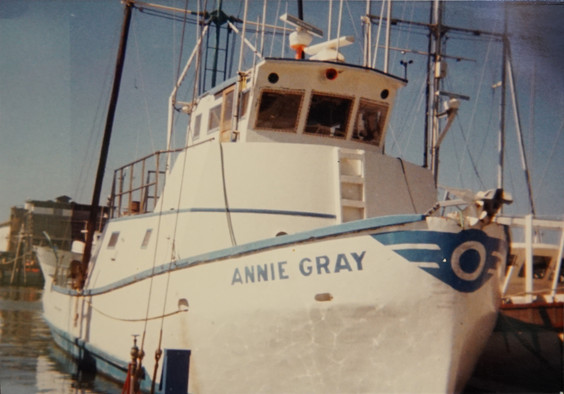 "Annie Gray - One of Bruce's ""Fishing"" Boats"