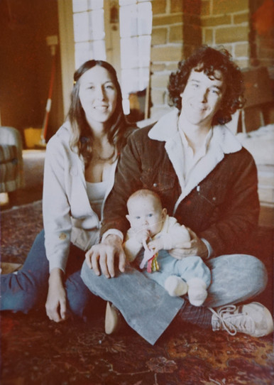 Bruce and Becky with new son