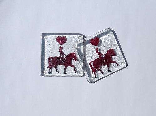 Horses and Hearts Coasters