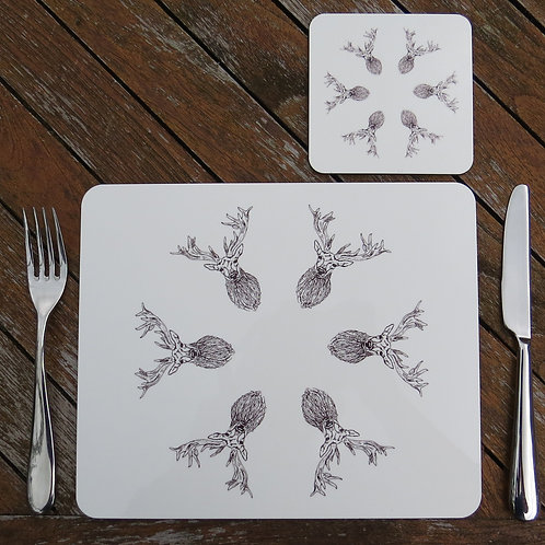 A Leash of Stags Placemat