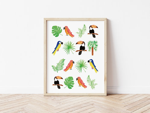 Jungle Collection Print - A4
