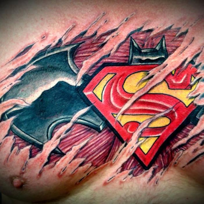 Batman/Superman Tattoo