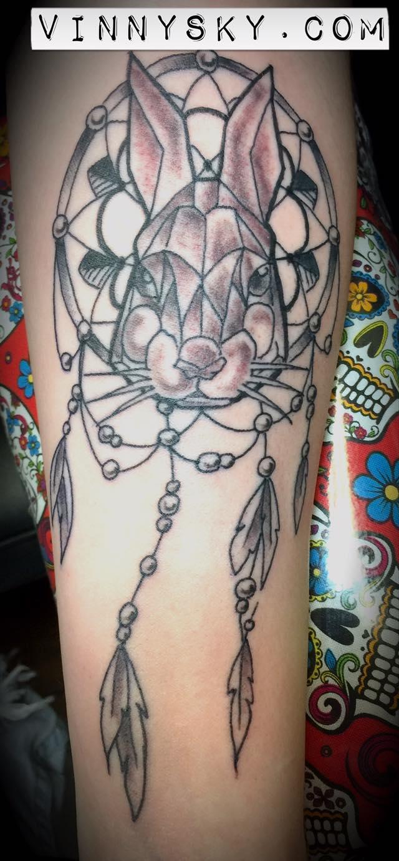 Geometrical rabbit Tattoo