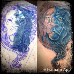 lion before and after tattoo