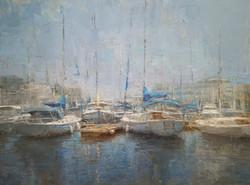 Trish Beckham, City Marina, 36 x 48 in