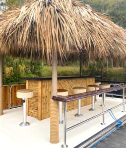 Tiki Bar with Barstools
