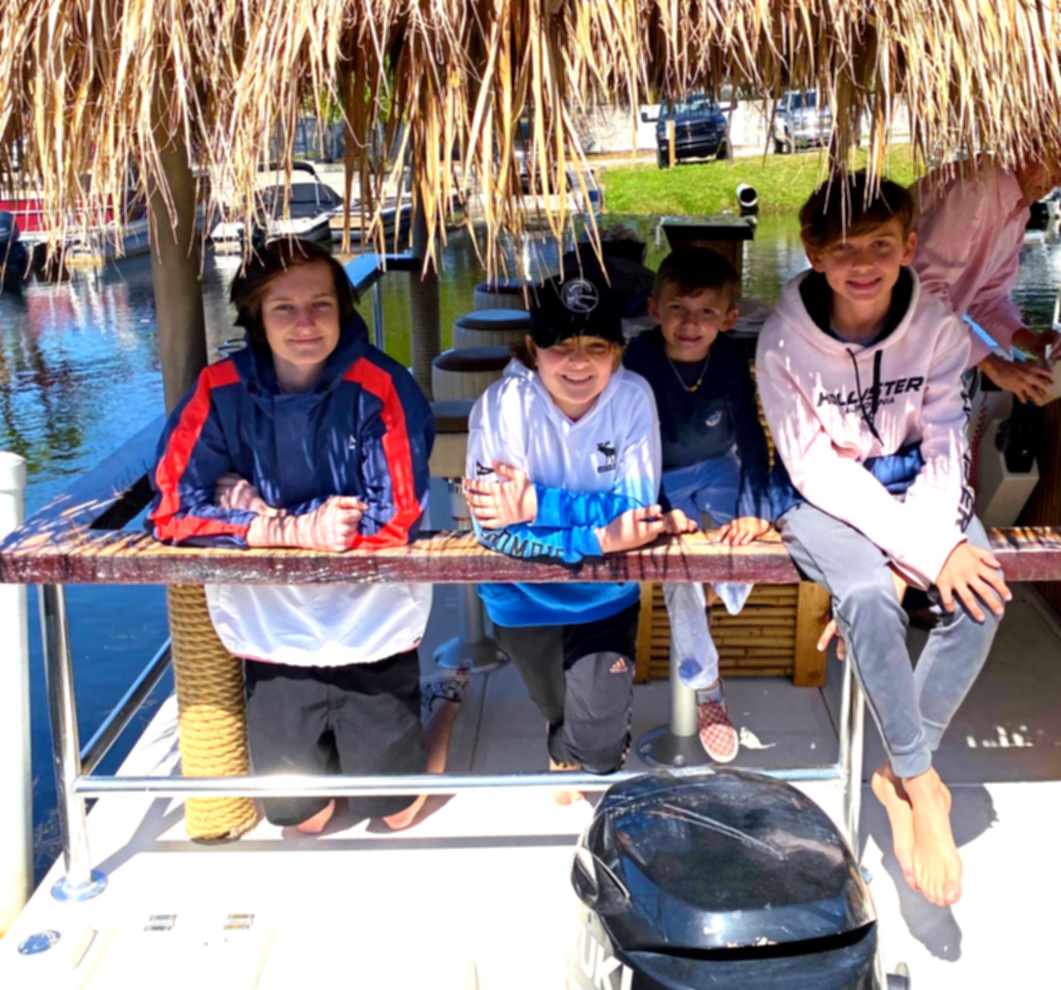 Fun on a Tiki Boat