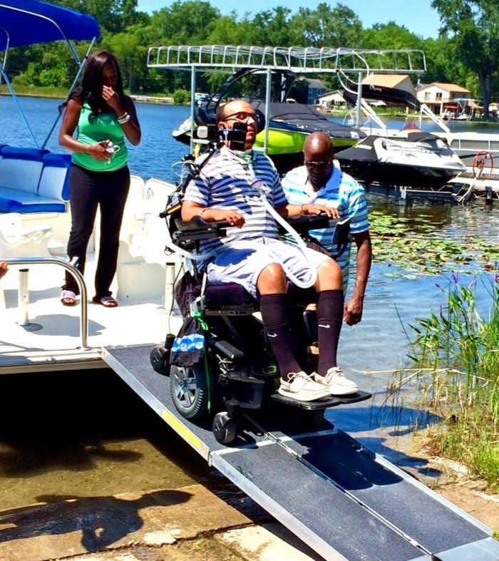 wheelchair accessible boat ramp