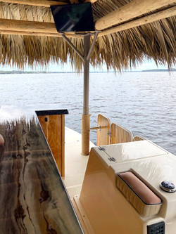 Tiki Boat with a Bathroom