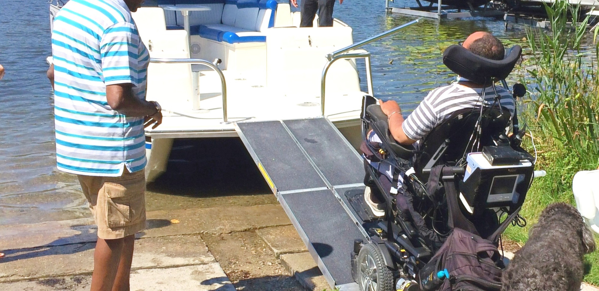 Going out for the day on a wheelchair accessible boat