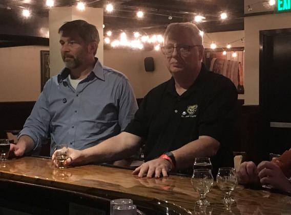 Tom Hopper and Steve Kent at Tibbs Brewi