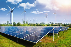solar-panel-with-wind-turbines-against-m