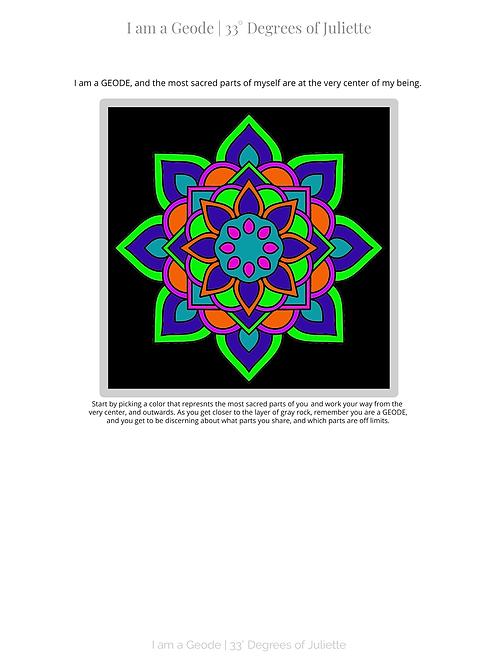 I am a Geode: Boundary Setting Through Mandalas