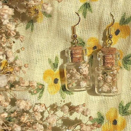 Mini Flower in Jars Earrings