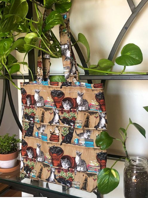 Kittens and Books Tote