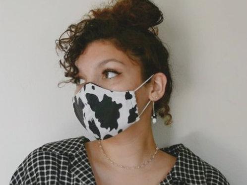 Cow Print Mask