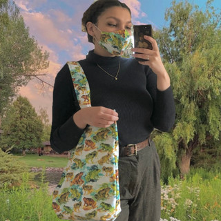 Frog Tote and Mask