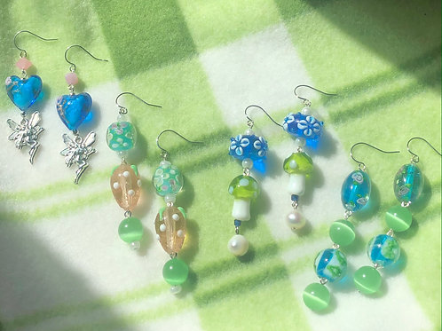 Blue and Green Earring Collection