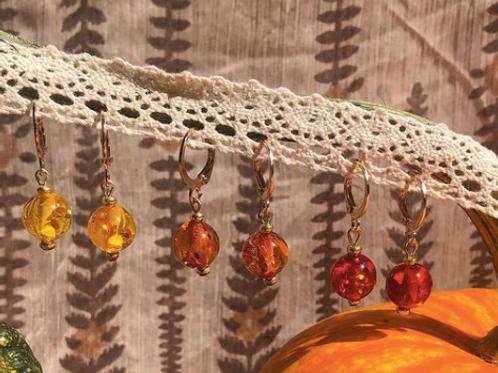 Yellow, Orange & Red Earrings