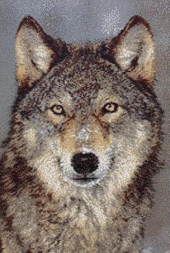 Wolf Mosaic Glass Art