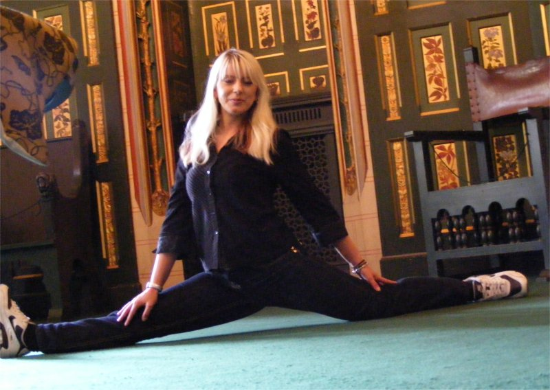 Random yoga in a castle in Wales