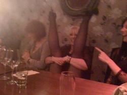 Random dinner table yoga!