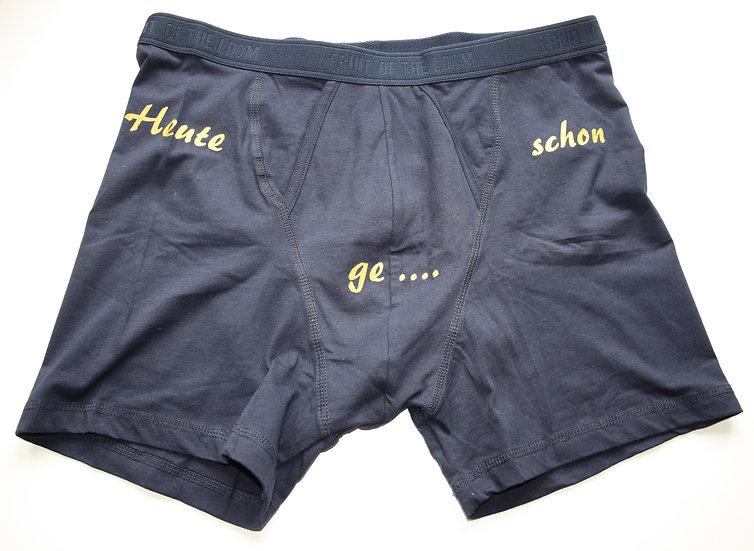 "Lange Boxershort ""Heute schon ge..."" (...töltet?)"