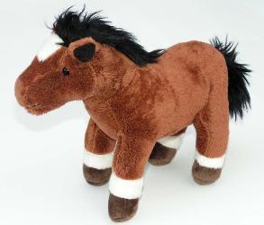 Plüsch Pferd, ca. 19cm in drei Farben