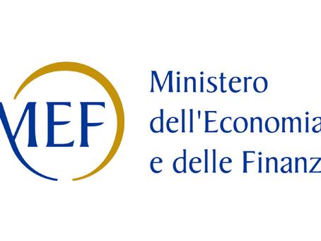 Comunicati stampa del MEF: in arrivo proroghe e sospensioni