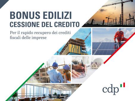 Bonus Edilizi: scende in campo Cassa Depositi e Prestiti