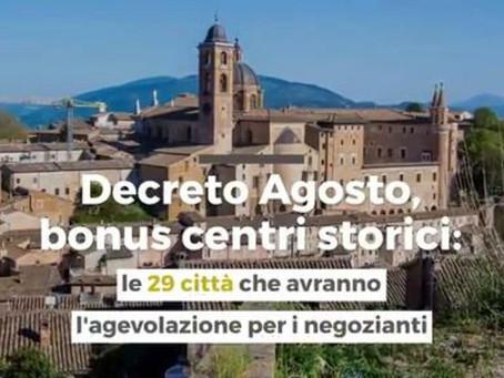 Al via il Bonus per le attività dei centri storici delle città