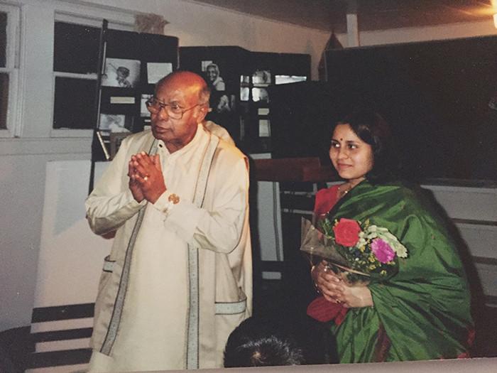 With Ustad Ali Akbar Khan at Ali Akbar College of Music, San Rafael.
