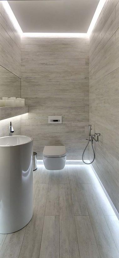 led strip application bathroom