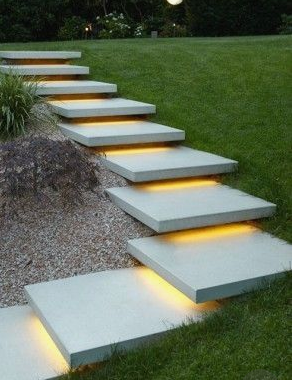 led strip application-stairs