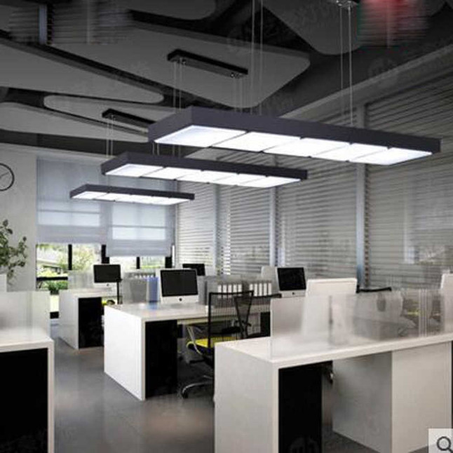 Office-chandelier-led-strip-light-modern