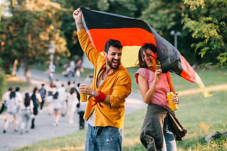 Jovens no jardim Alemanha