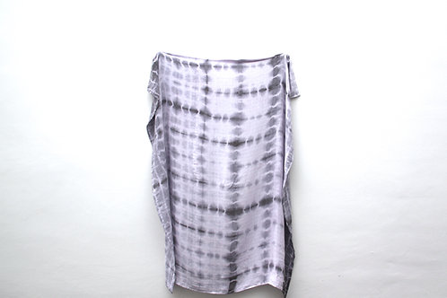 Black Tie-Dyed Bamboo Muslin Swaddle Blanket