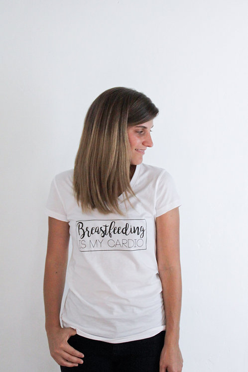 'Breastfeeding is my Cardio' T-shirt