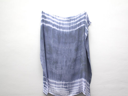 Blue Tie-Dyed Bamboo Muslin Swaddle Blanket