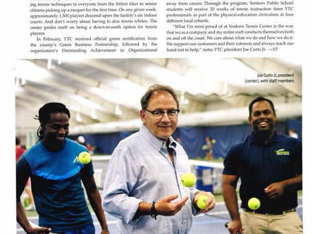 Yonkers Tennis Center recognized in Westchester Magazine for General Excellence!