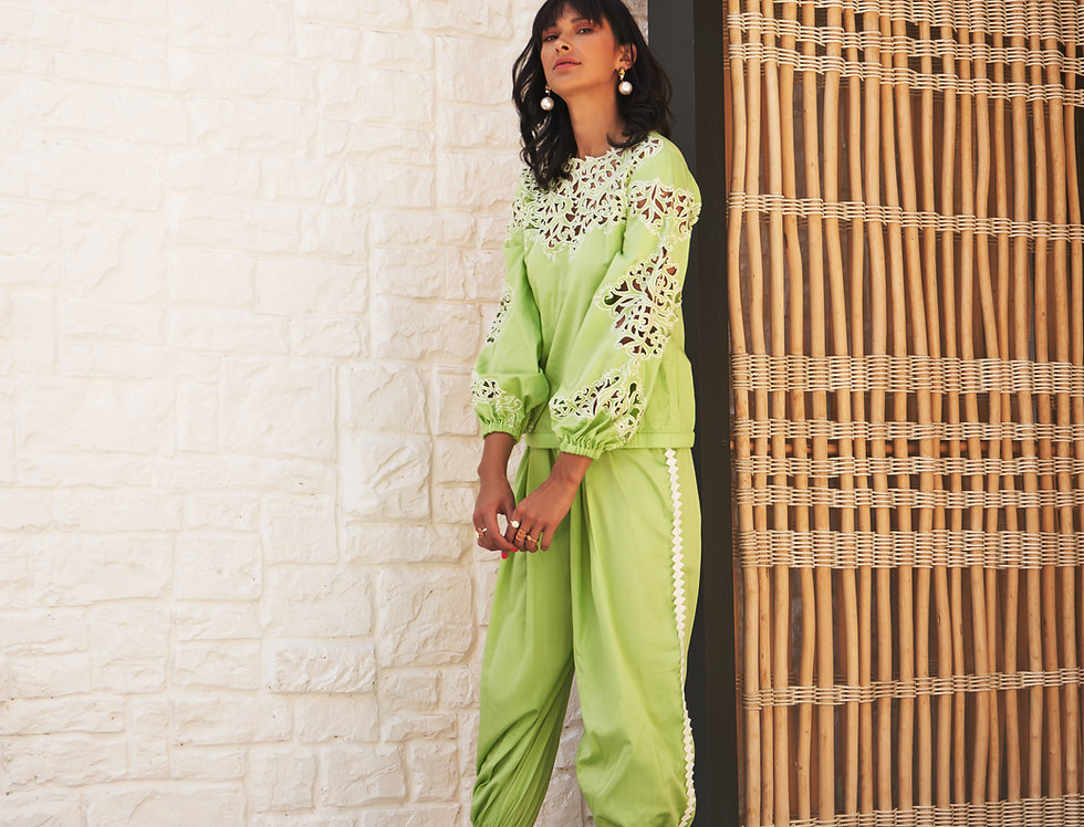 SHAINA Cutwork Co-ord set