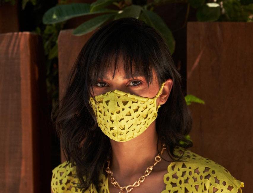 AURA Geometric cutwork mask