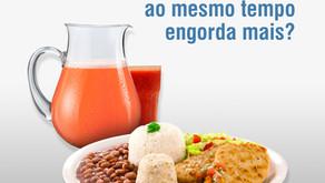 Comer e beber ao mesmo tempo, engorda mais?