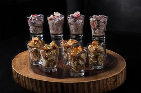 Sweet potato/Mushroom cups