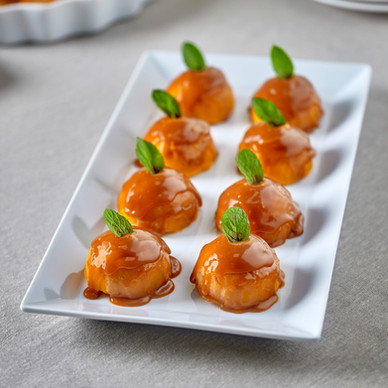 Sweet potatoes with caramel