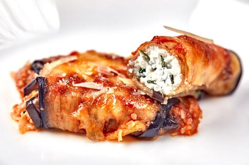 Eggplant rolls with ricotta