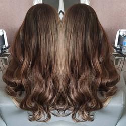 Mixed shades 20inches _#brunettebabe #ha