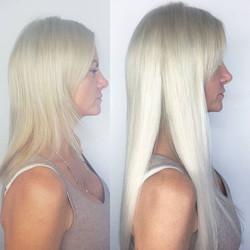 Side profile change #hairtransformation